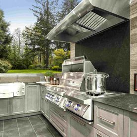 View of customers outdoor kitchen
