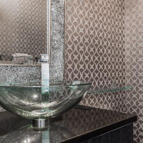 view of a glass sink