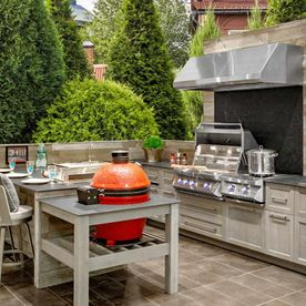 View of Outdoor kitchen appliances